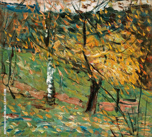 The White Birch 1902 By Axel Torneman