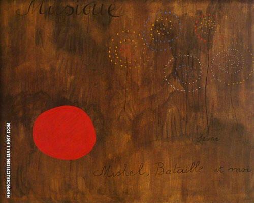 Musique Seine Michel Bataille et Moi 1927 By Joan Miro