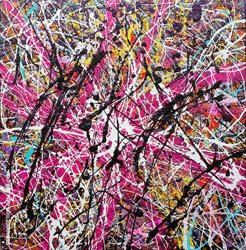 Magenta Inspired by Jackson Pollock Painting By ... - Reproduction Gallery