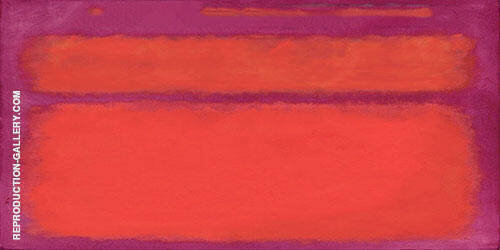 Magenta Inspired by Mark Rothko By Mark Rothko (Inspired By) Replica Paintings on Canvas - Reproduction Gallery
