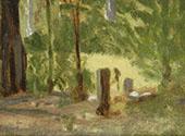 Forest Scene By Clarice Beckett