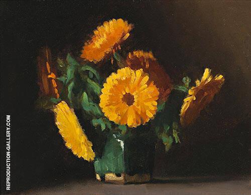 Marigolds 1929 By Clarice Beckett