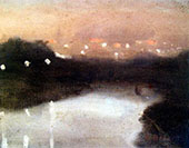 Night Lights on The Yarra 1930 By Clarice Beckett