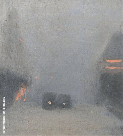 Passing Trams 1931 By Clarice Beckett
