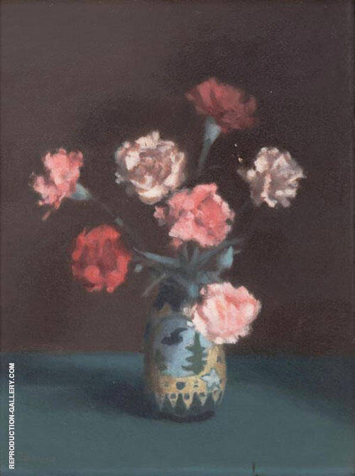 Still Life with Peonies By Clarice Beckett