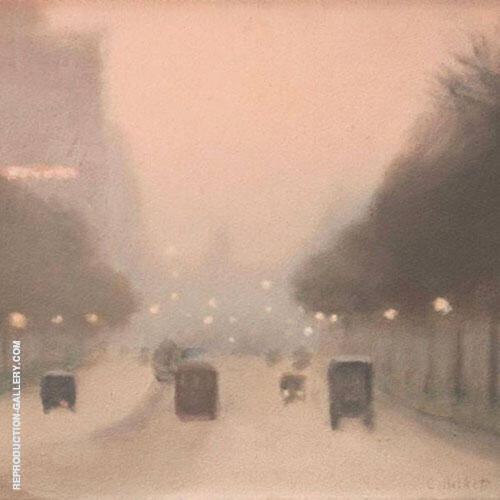 St Kilda Road 1930 By Clarice Beckett