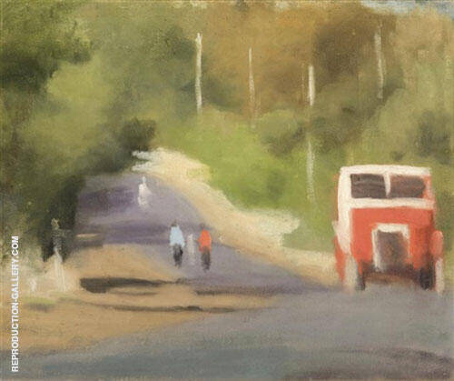 The Red Bus By Clarice Beckett