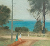 The Road to The Sea Beaumaris 1932 By Clarice Beckett