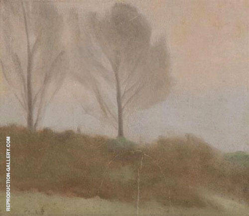 The Two Trees near Beaumaris By Clarice Beckett