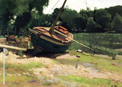 Beached Boat 1881 By Dennis Miller Bunker
