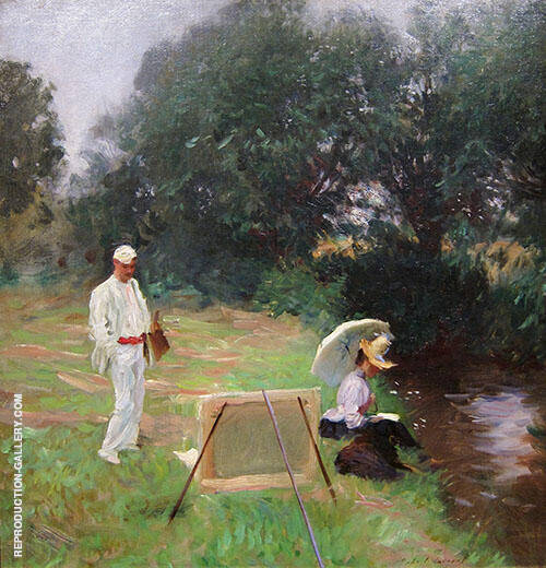 Bunker Painting at Calcot By Dennis Miller Bunker