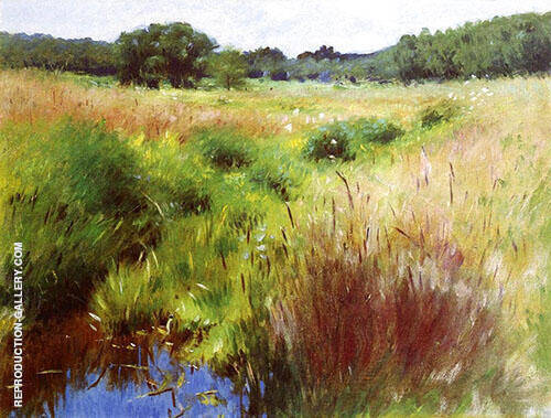 Marshland Medfield 1890 Painting By Dennis Miller Bunker