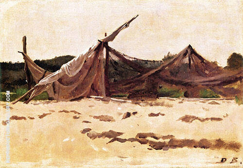 Nets and Sails Drying Painting By Dennis Miller Bunker