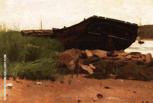 Old Hulks 1887 Painting By Dennis Miller Bunker - Reproduction Gallery