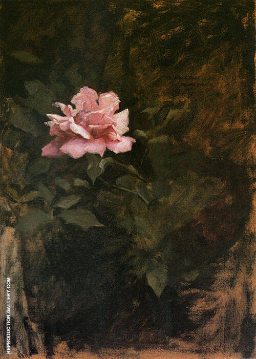 Pink Roses 1886 Painting By Dennis Miller Bunker - Reproduction Gallery