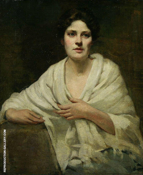 Portrait of a Woman 1890 Painting By Dennis Miller Bunker