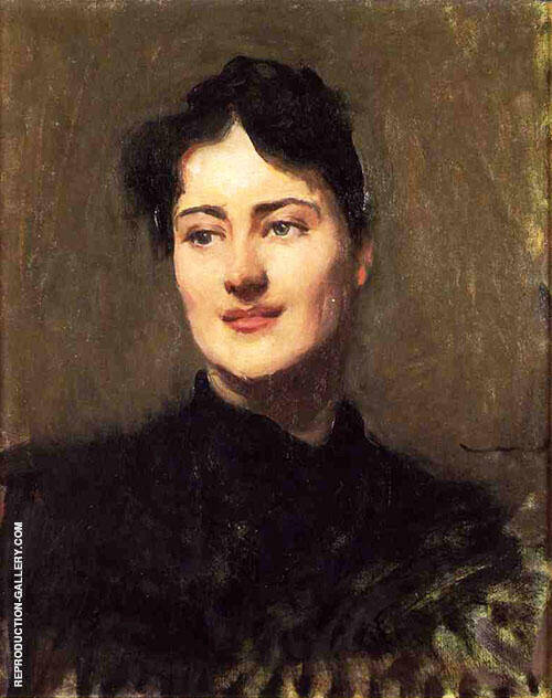 Portrait of a Woman 1890 By Dennis Miller Bunker