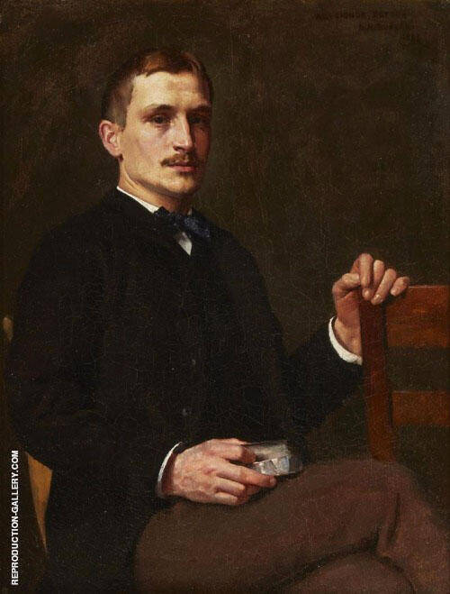 Portrait of Doctor Royal Whitman 1885 Painting By Dennis Miller Bunker