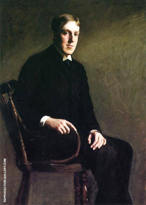 Portrait of John Lowell Gardner 1888 Painting By Dennis Miller Bunker