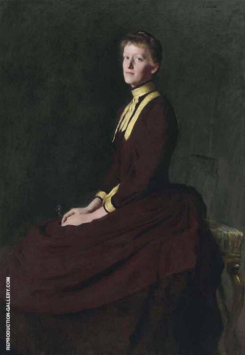 Portrait of Olga E Gardner 1888 Painting By Dennis Miller Bunker