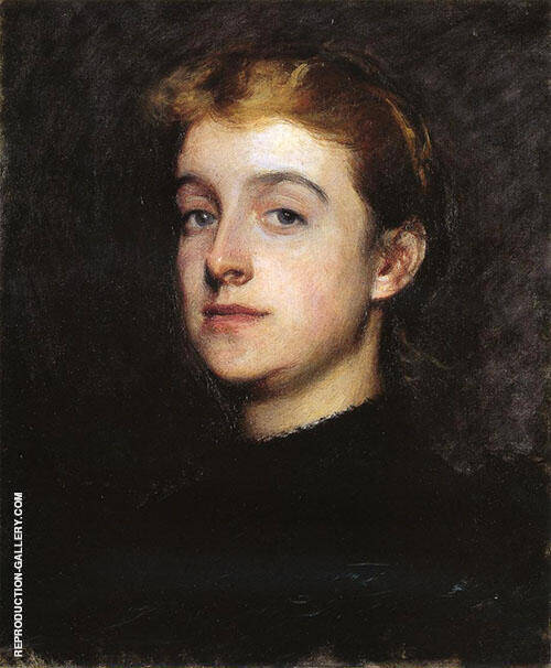 Portrait Sketch of Eleanor Hardy Bunker 1890 Painting By ...