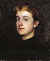 Portrait Sketch of Eleanor Hardy Bunker 1890 By Dennis Miller Bunker