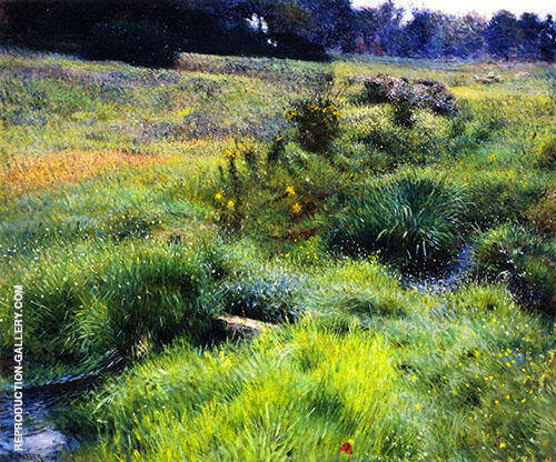 The Brook at Medfield 1889 By Dennis Miller Bunker