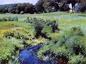 The Pool Medfield 1889 By Dennis Miller Bunker
