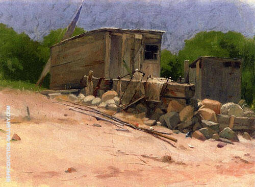 The Shed 1880 Painting By Dennis Miller Bunker - Reproduction Gallery