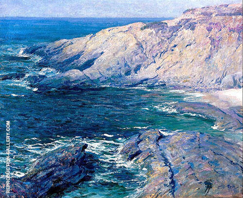 Arch Beach Cove Painting By Guy Rose - Reproduction Gallery