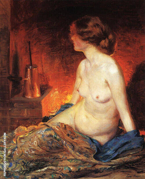 The Fireside 1910 Painting By Guy Rose - Reproduction Gallery