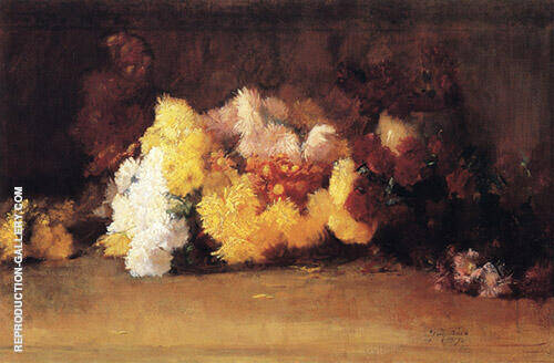 Chrysanthemums 1887 Painting By Guy Rose - Reproduction Gallery