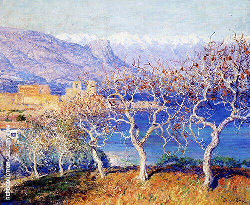 Fig Trees Antibes 1910 Painting By Guy Rose - Reproduction Gallery