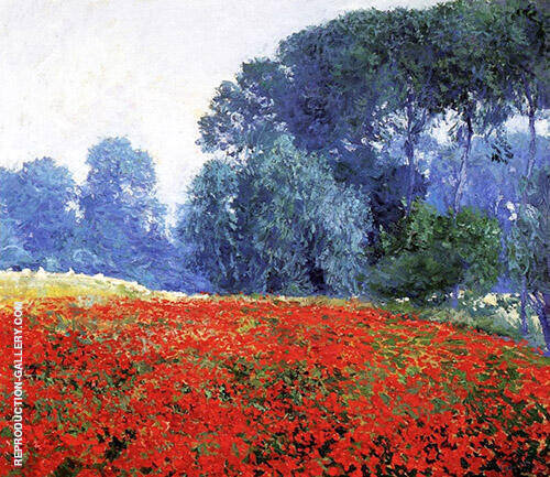 French Poppies Painting By Guy Rose - Reproduction Gallery