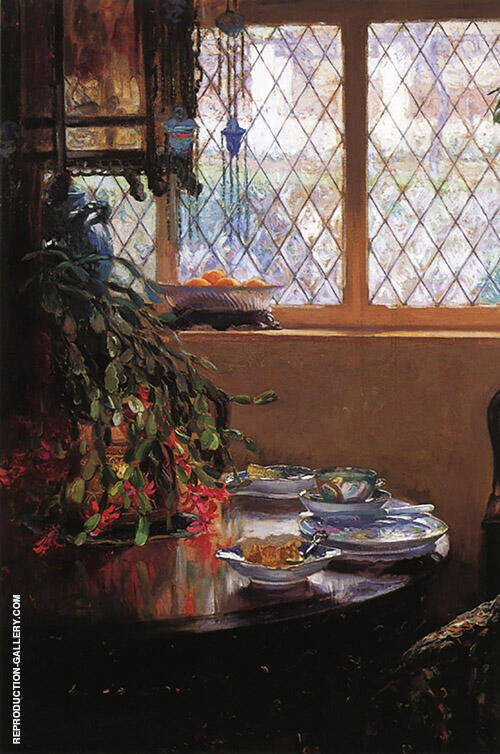 From The Dining Room Window 1910 Painting By Guy Rose