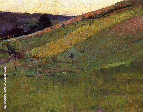 Giverny Hillside 1891 Painting By Guy Rose - Reproduction Gallery
