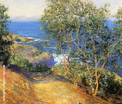 Indian Tobacco Trees La Jolla 1916 Painting By Guy Rose