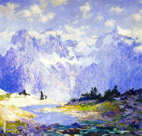 In The High Canadian Rockies 1914 Painting By Guy Rose