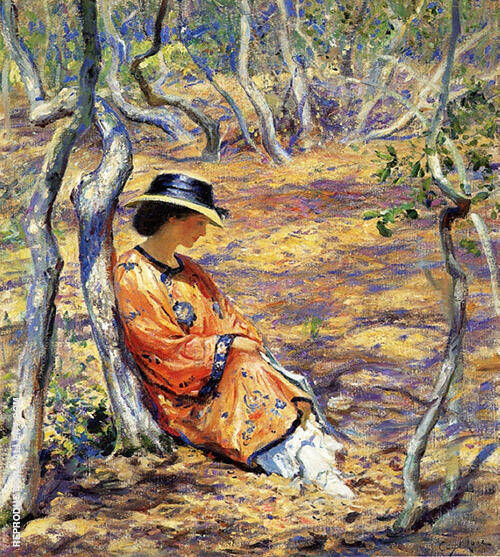 In The Oak Grove 1919 Painting By Guy Rose - Reproduction Gallery