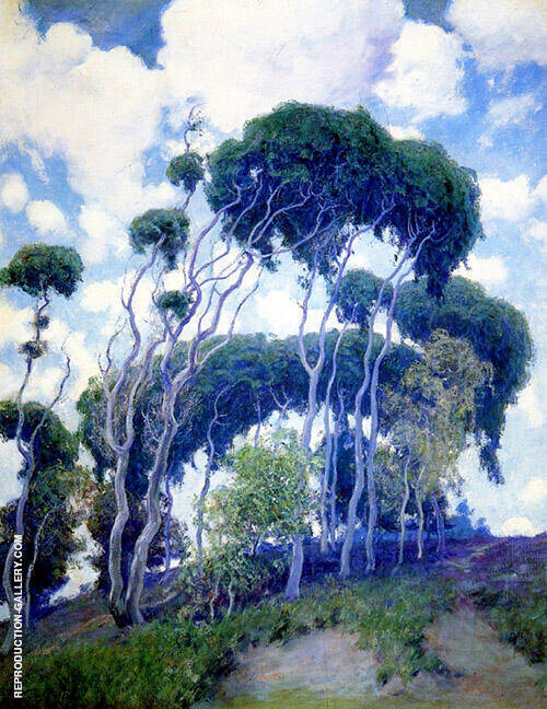 Laguna Eucalyptus 1917 Painting By Guy Rose - Reproduction Gallery