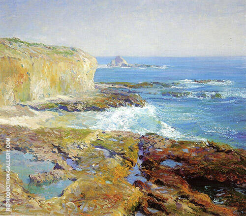 Laguna Rocks Low Tide 1916 Painting By Guy Rose - Reproduction Gallery