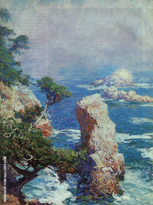 Mist over Point Lobos 1918 Painting By Guy Rose - Reproduction Gallery