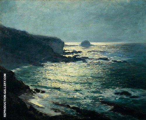 Moonlight Arch Beach Laguna 1916 Painting By Guy Rose