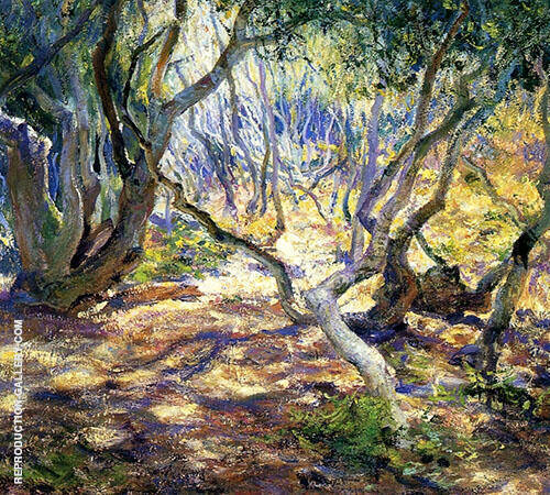 Oak Grove Carmel 1919 Painting By Guy Rose - Reproduction Gallery