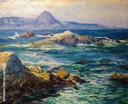 Off Mission Point Painting By Guy Rose - Reproduction Gallery