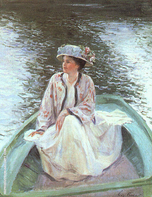 On The River 1908 Painting By Guy Rose - Reproduction Gallery