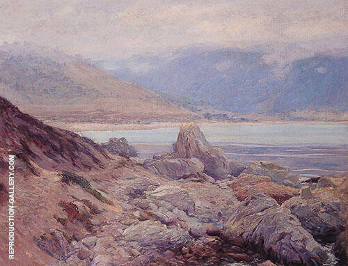 Path Along The Shore Painting By Guy Rose - Reproduction Gallery