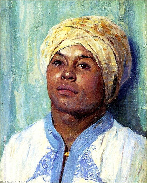 Portrait of an Algerian 1900 Painting By Guy Rose - Reproduction Gallery