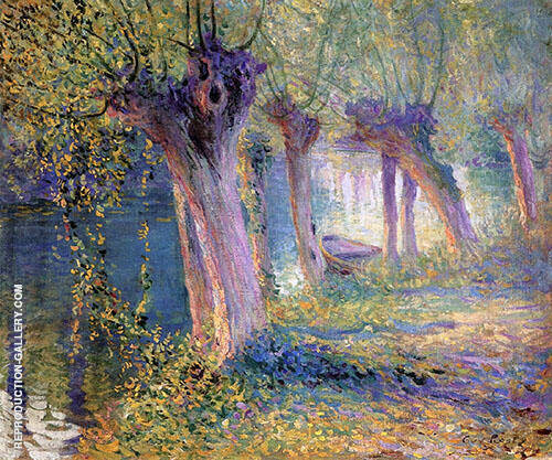 River Epte Giverny 1910 Painting By Guy Rose - Reproduction Gallery