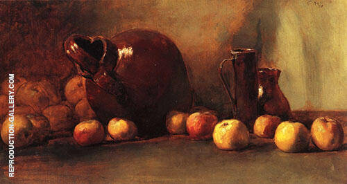 Still Life Jug with Fruit 1888 By Guy Rose